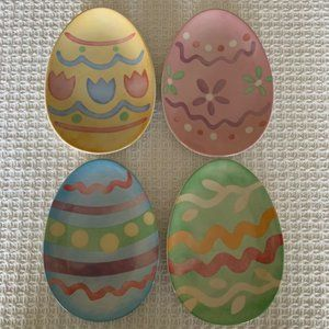 Longeberger Easter Egg Appetizer/Dessert Plates~4